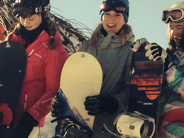 Snowboard freeride teenagers Belalp