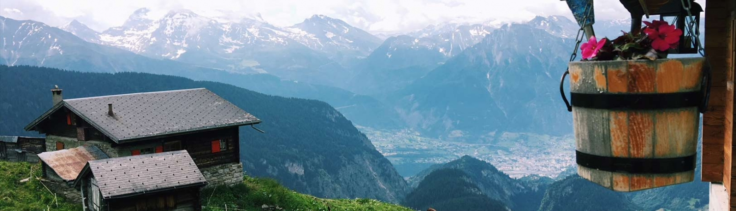Summer on the Alps Swiss-Alps-Chalet